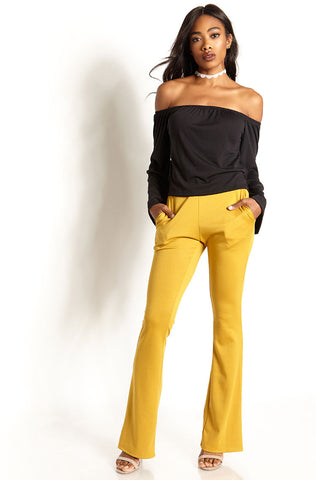 "Rebdolls ""In Love With The"" Ribbed Over The Shoulder Top"