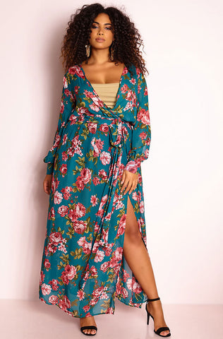 "Rebdolls ""Don't Stop"" Midi Dress & Cardigan Set"