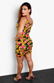 Black Printed Bodycon Mini Dress Plus Sizes
