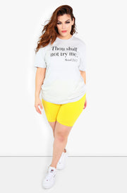 Grey Graphic Crew Neck Tshirt Plus Size