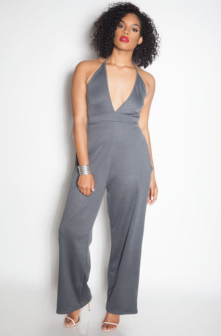 "Rebdolls ""Checking For Me"" Printed Palazzo Jumpsuit"