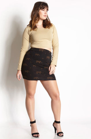 "Rebdolls ""Dark Vines"" Mini Skirt - FINAL SALE CLEARANCE"