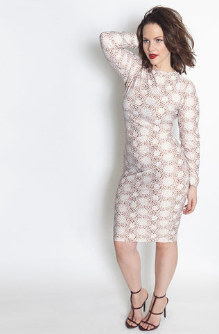 "Rebdolls ""Flower Party"" 3/4 Sleeve Midi Dress - FINAL SALE CLEARANCE"
