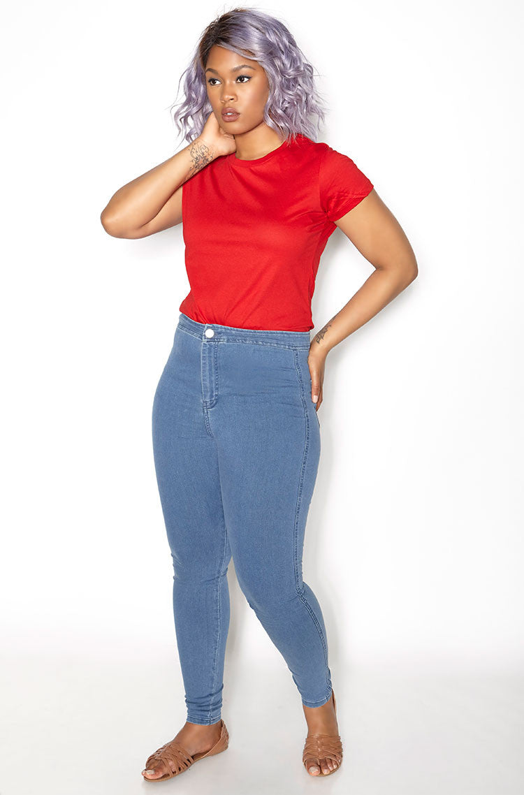 Red Crew Neck T-Shirt plus sizes