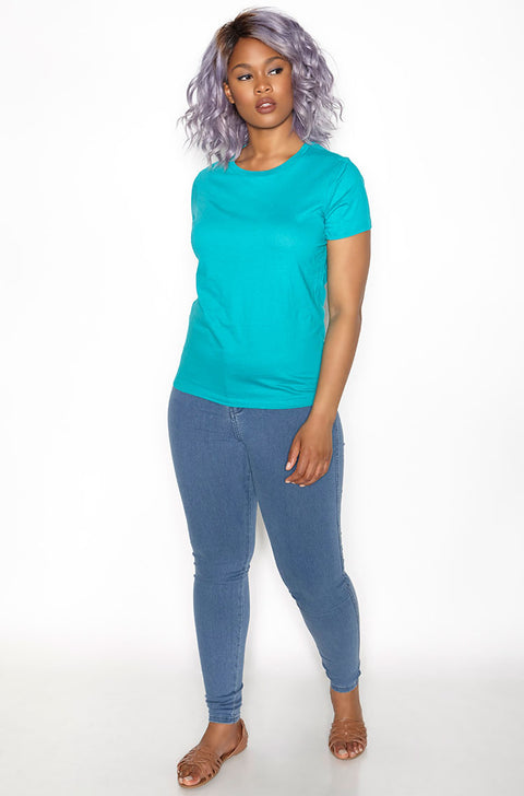 Jade Crew Neck T-Shirt plus sizes