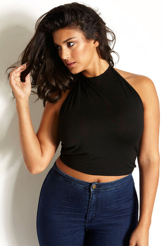 "Rebdolls ""Come And See Me"" Over The Shoulder Crop Top"