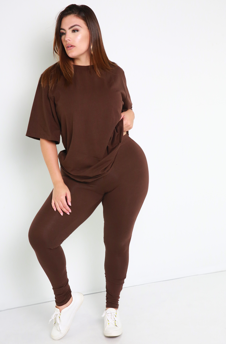 Brown Leggings Plus Sizes