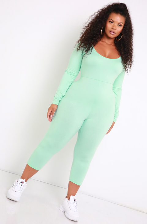 Mint Essential Scoop Neck Jumpsuit Plus Sizes