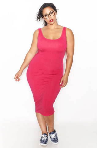 "Rebdolls ""Don't Tell"" Caged Peplum Midi Dress - Final Sale Clearance"