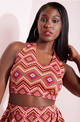 "Rebdolls ""Full Exclusive"" V-Neck Crop Top"