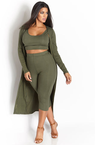 Rebdolls Essential Tank Midi Dress - Olive - FINAL SALE