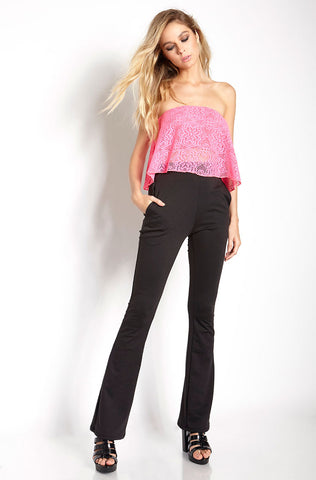"Grisel. ""Peace And Love"" Flare Leg Pants"