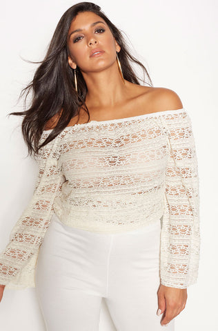 "Rebdolls ""Lost Girl"" Over The Shoulder Crop Top"