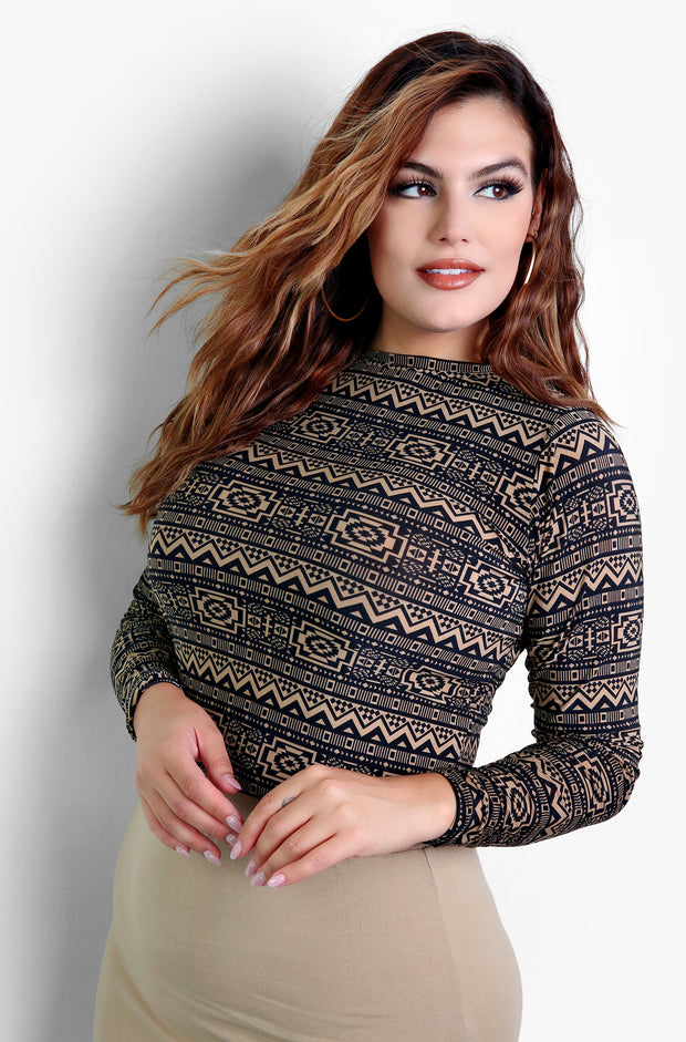Black Crewneck Plus Size Long Sleeve Tops
