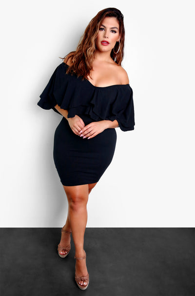 Black Bodycon Mini Dress Plus Sizes