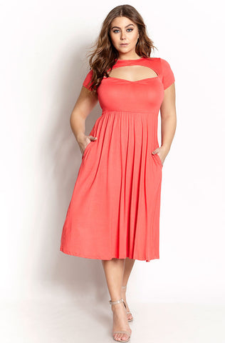 "Rebdolls ""Blushed Rose Affair"" Mini Lace Skater Dress"