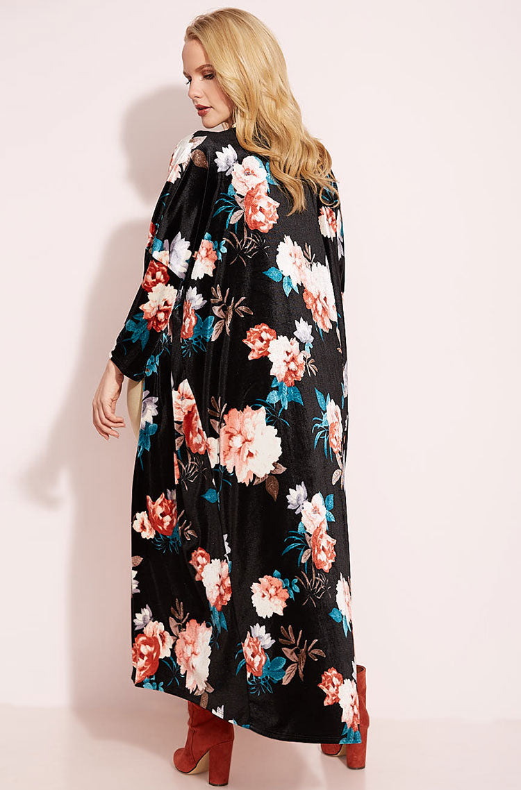 Black Kimono plus sizes
