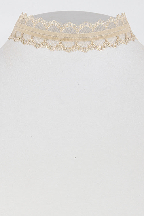 Gold  Lace Chocker