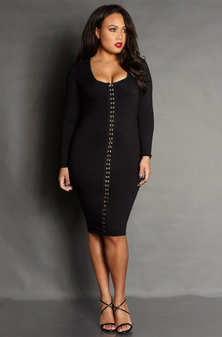 "Rebdolls ""Fearless"" Ruched Mesh Midi Dress"