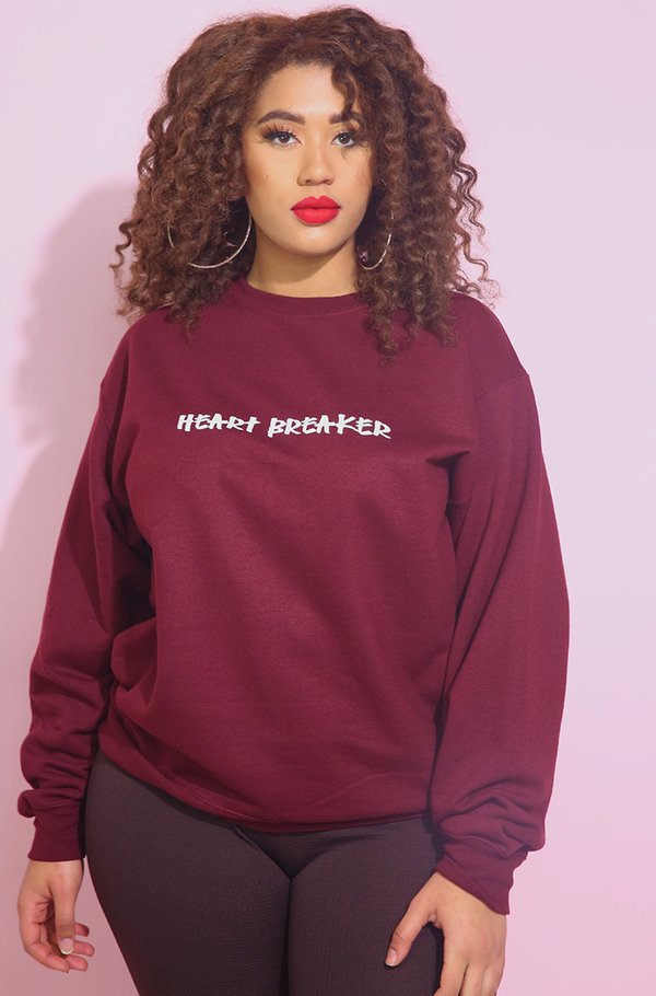 Burgundy Sweatshirt plus sizes
