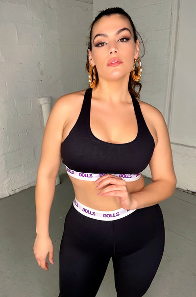 "Rebdolls ""Dolls Only"" RacerBack Sports Bra"