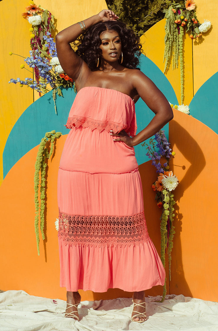 "Rebdolls ""All I Need"" Ruffle Sleeveless Maxi Dress"