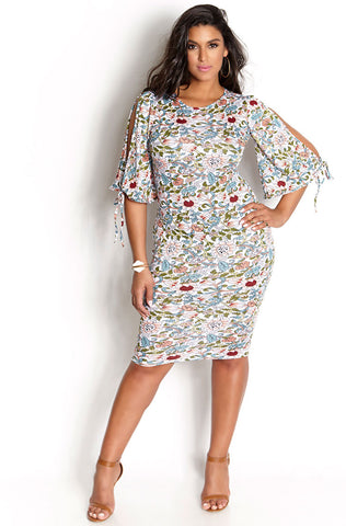 "Rebdolls ""Abstract Possibilities""  Midi Dress"