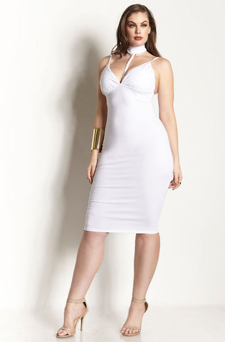 Rebdolls Essential Tank Midi Dress - White