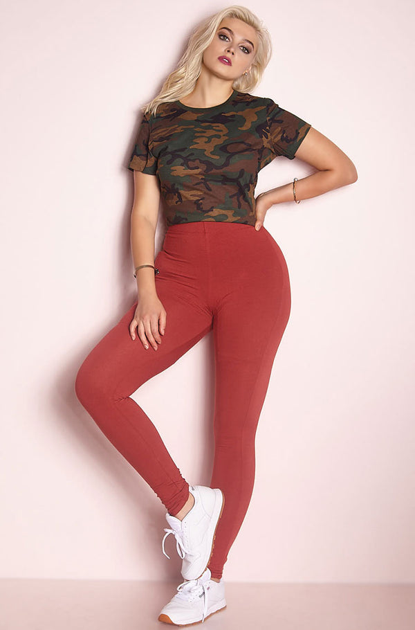 Rust Red Leggings plus sizes