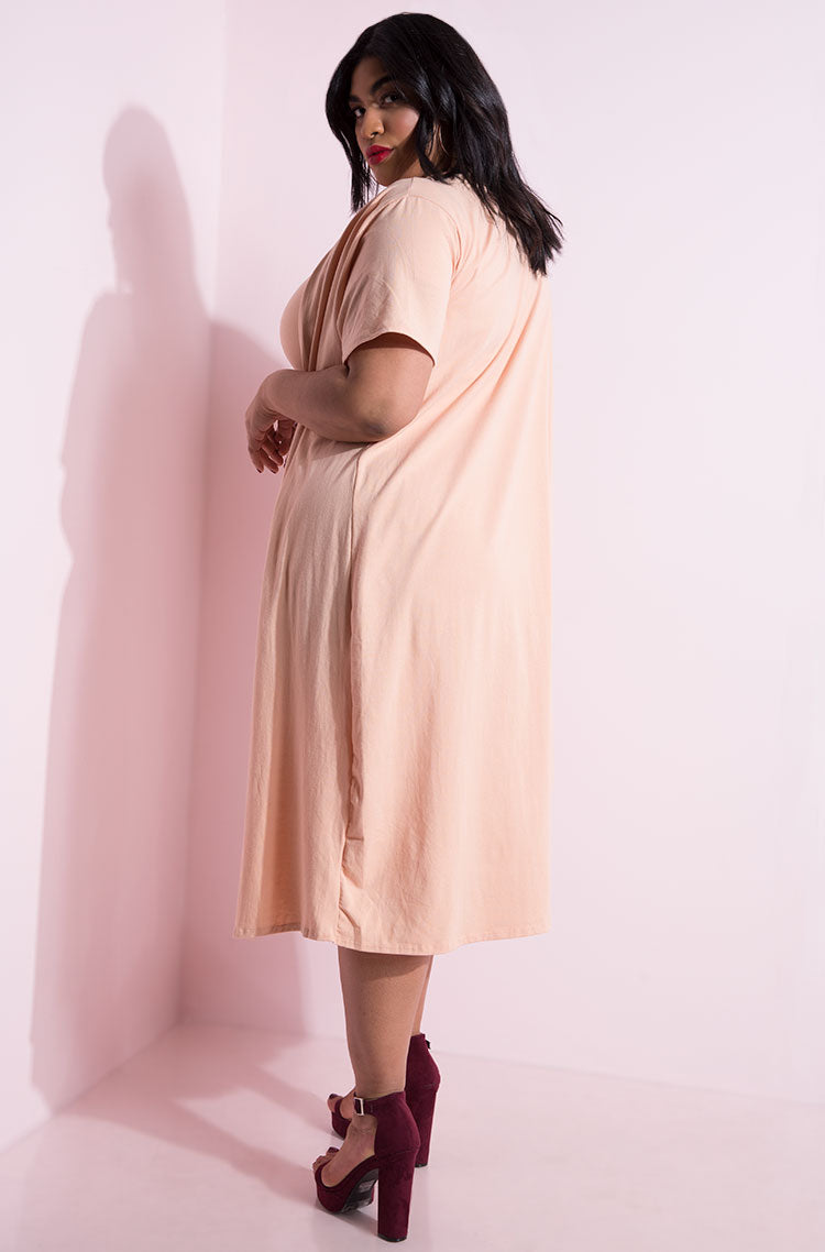 Blush Short Sleeve Cardigan plus sizes
