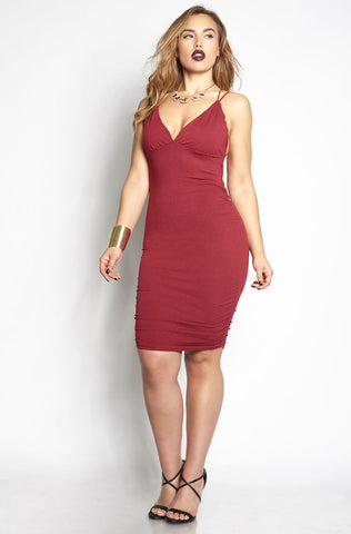 "Rebdolls ""Call It Quits"" Ribbed Mini Dress"