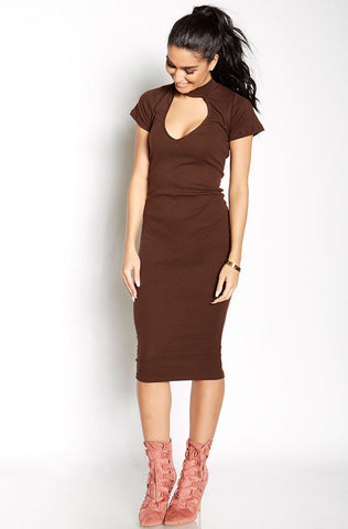 "Rebdolls ""Always Right"" Turtleneck Midi Dress - Final Sale Clearance"