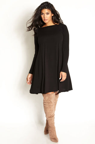 "Rebdolls ""High Tempo"" Cut-Out Ponte Midi Skater Dress"