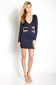 Blue Cut-Out Mini Dress plus sizes