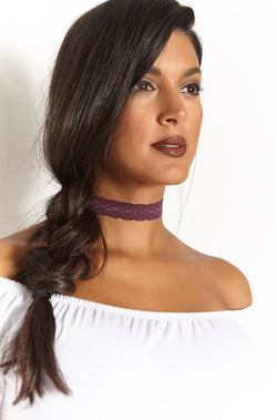 Purple Lace Choker