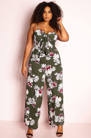 "Rebdolls ""Bang, Bang"" Knee Cut-Out Jumpsuit - FINAL SALE"
