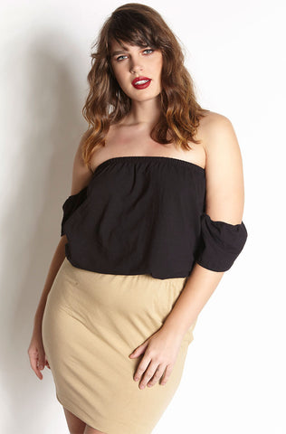 "Rebdolls ""Boy, Bye"" Over The Shoulder Crop Top"