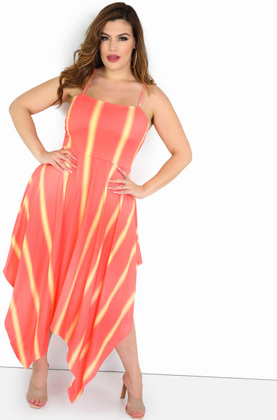 Pink Shark Bite Dress Plus Sizes