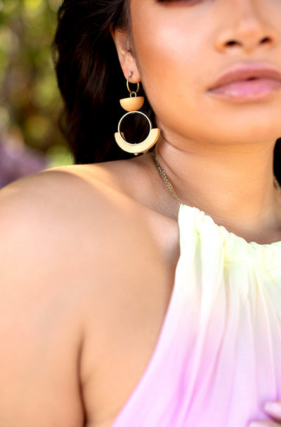 Ivory Statement Drop Earrings