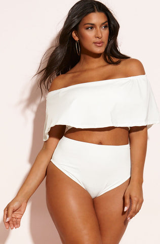 "Rebdolls ""Summer 17"" Over The Shoulder Two Piece Swimsuit"