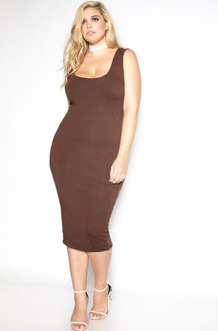"Rebdolls ""The Kim"" Turtleneck Midi Dress - Final Sale Clearance"