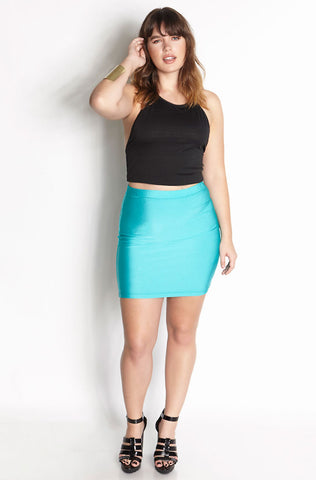 Rebdolls Essential Midi Skater Dress With Pockets - Turquoise - FINAL SALE CLEARANCE