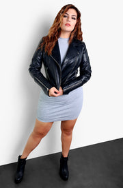Black Leather Jacket Plus Sizes