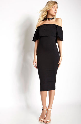 "Garnerstyle ""On the Prowl"" Bodycon Midi Skirt - Final Sale Clearance"