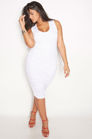 "Rebdolls ""Don't Text Back"" Side Slit Ribbed Maxi Dress- FINAL SALE"