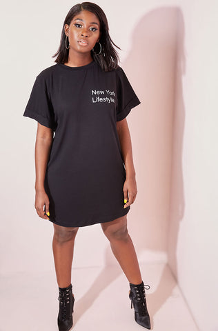 "Rebdolls ""Thigh To Patience Ratio"" Oversized Long Line T-shirt"