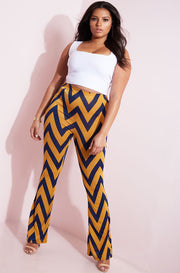 Gold Bell Bottom Leggings plus sizes