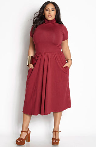 "Rebdolls ""Right Now"" Ribbed Bodycon Maxi Dress"