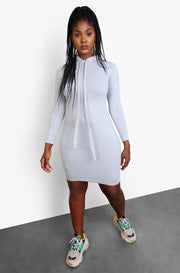 "Rebdolls ""Out & About"" Hooded Mini Dress - Gray"