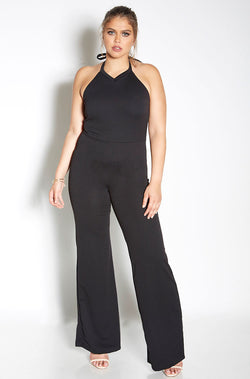 Black Bell Bottom Jumpsuit plus sizes